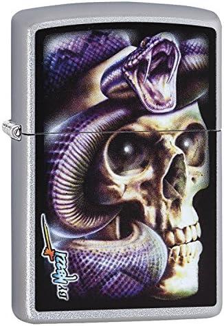 Zippo Mazzi Skull Snake Lighter Brass Stainless Steel 1 x 6 x 6 cm product image