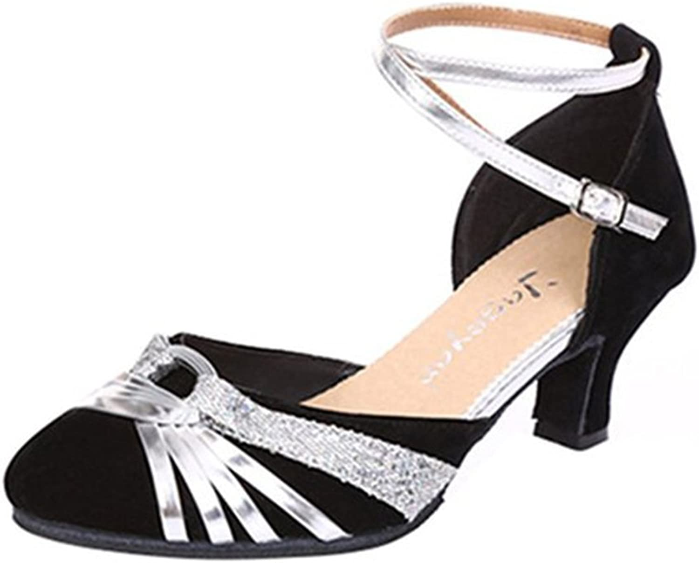 BININBOX Ladies Pleasant Dance shoes with Heels Standard & Latin White