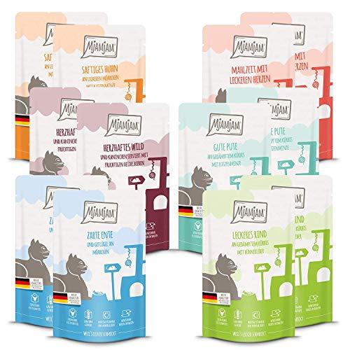 MjAMjAM Mixpaket III 2*Wild & Kaninchen, 2*Pute, 2*Ente & Geflügel, 2*Herzen, 2*Huhn, 2*Rind 12 x 125 g, 1er Pack (1 x 1.5 kilograms)