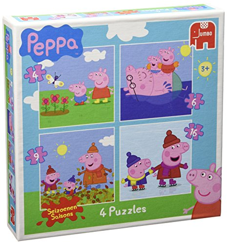 Peppa Pig. Puzzle 4 in 1