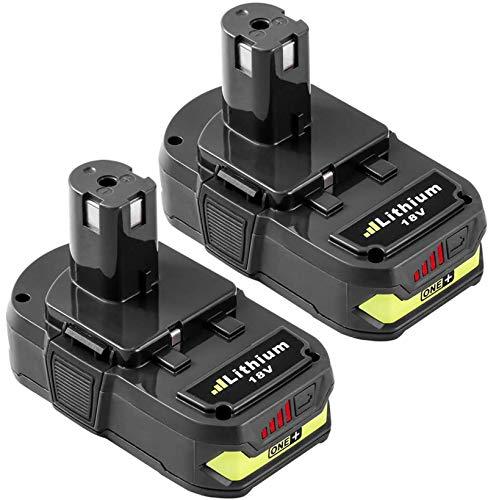 2 Packs 18Volt P102 Replacement Battery Compatible with Ryobi 18V ithium Battery 2.5Ah ONE+ P102 P103 P104 P105 P107 P108 P109 P190 P191 P122