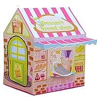 子供用テント、デザートハウスハウスシェイプテントおもちゃゲームハウスオーシャンボールプール赤ちゃん赤ちゃん誕生日ギフト100 * 70 * 110 cm子供用プレイハウス、折りたたみ収納バッグフラット