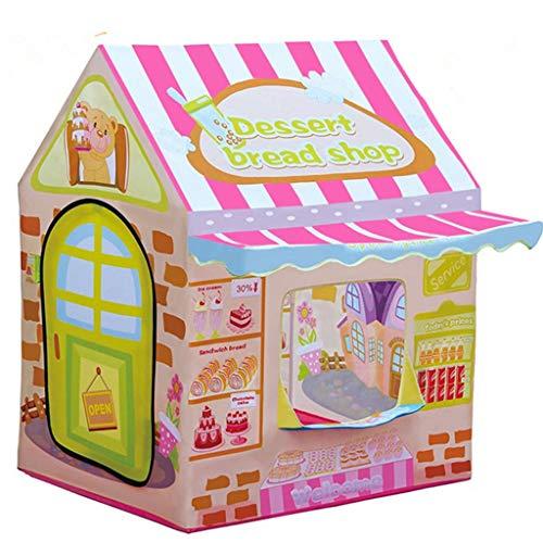 Kindertent, Desserthuis Huisvorm Tent Speelgoed Spel Huis Oceaan Ballenbad Baby Baby Verjaardagscadeau 100 * 70 * 110 Cm Kinderspeelhuis, Opbergtas Platte Rits Compact Speelgoed