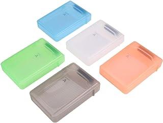 Hemobllo 5 pcs Hard Drive Storage Case 3.5 Inch Portable Plastic HDD Protective Box External Hard Disk Anti-Shock Proof Ca...