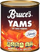 Bruce's, Yams, Cut Sweet Potatoes in Syrup, 29oz Can (Pack of 6) (Choose Can Sizes Below) (29oz Can)