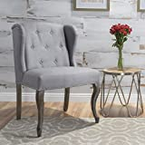 Christopher Knight Home Niclas Accent Chair, Light Grey