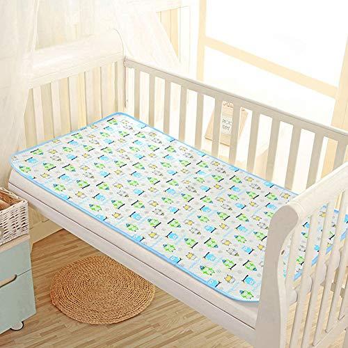 Menstrual - Cambiador impermeable para bebé, algodón, sábana de cama, lavable, protección de colchón, cuna, cochecito, cama, sofá o viaje azul azul Talla:44*35