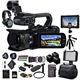 Canon XA45 Professional UHD 4K Camcorder (3665C002) W/ 2 Extra Battery, Soft Padded Bag, 64GB Memory Card, Filter Kit, LED Light, Sony Headphones, 4K Monitor, Sony Mic and More - Bundle (Renewed)