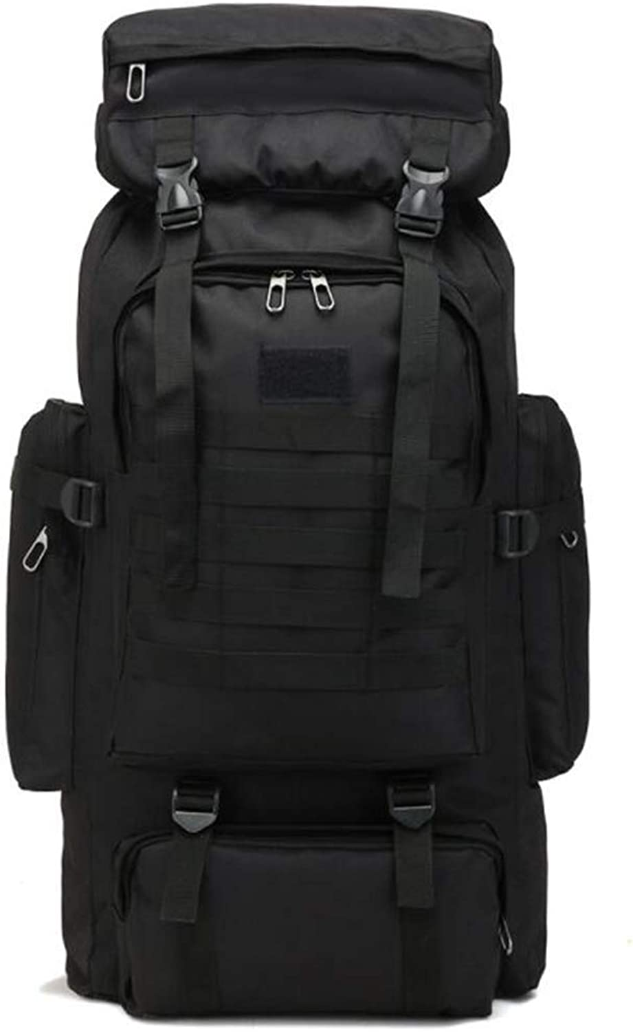 Black Large Capacity 80L Oxford Cloth Backpack Camouflage Outdoor Backpack Travel Mountaineering Bag