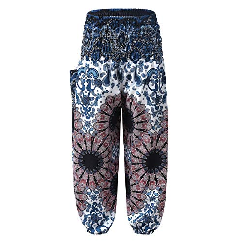 Freebily Kids Girls Workout Yoga Bohemian Pants Style Beach Harem Pants for Sports Gymnastic Dance Active wear Pants