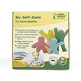 GRÜNSPECHT Naturprodukte 680-00 Bio Soft - Plastilina (500 g), color amarillo, rojo, azul y verde