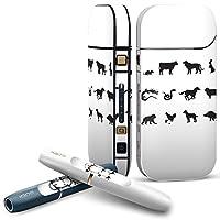 IQOS 2.4 plus 専用スキンシール COMPLETE アイコス 全面セット サイド ボタン デコ アニマル 動物 干支 イラスト 002853