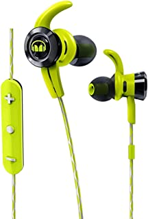 Monster Cable iSport Victory In-Ear Wireless Headphones with Built-In Mic, Green, Sports Headphones, Running, Noise Isolation