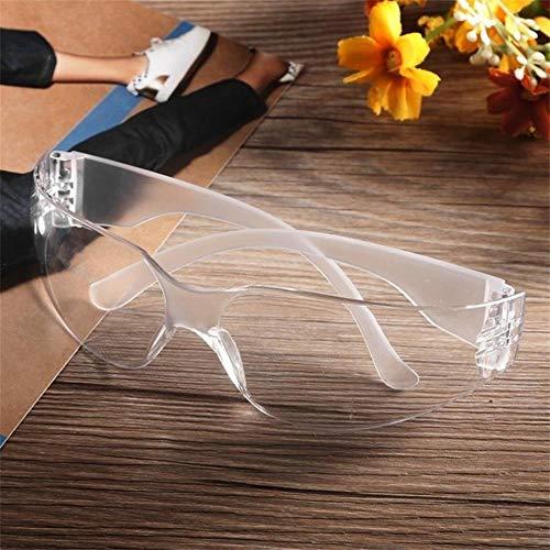 2 STKS VeiligheidsbrilZwart Bril Voor Uv Zonnebril Anti-condens Schokbestendig werkende Ogen Bescherming Bril, Wit