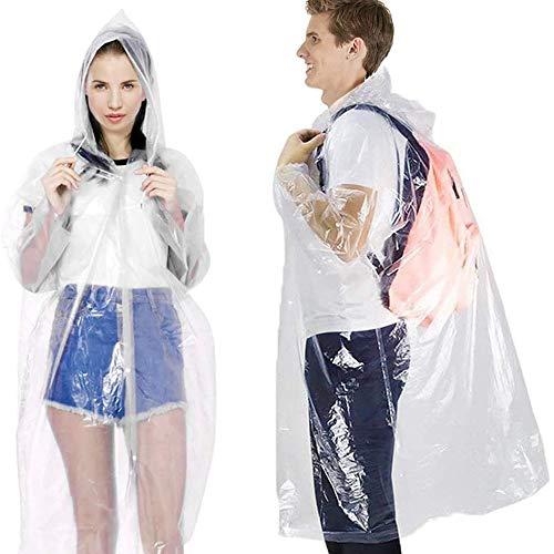 Wegwerp regen Poncho voor volwassenen, waterdicht lichtgewicht (20 Pack) geen plastic geur, milieuvriendelijk, perfect voor mannen en vrouwen outdoor activiteiten