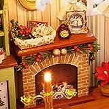Decdeal DIY Puppenhaus 3D Holz Miniaturhaus Kit mit LED Licht Kunsthandwerk Geschenk für Valentinstag, Kindertag, Weihnachten, Hochzeit, Geburtstag - 7
