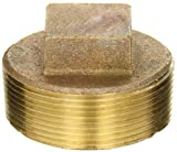 Anderson Metals 38109 Red Brass Pipe Fitting, Cored Plug, 2