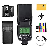GODOX TT685S TTL Camera Flash High Speed 1/8000s GN60 Compatible for Sony DSLR Cameras+GODOX X1T-S 2.4G Wireless Flash Trigger Transmitter for Sony DSLR Cameras+LETWING Cloth