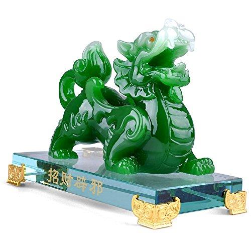BOYULL Feng Shui Green Pi Yao/Pi Xiu Wealth Porsperity Statue,Feng Shui Decor