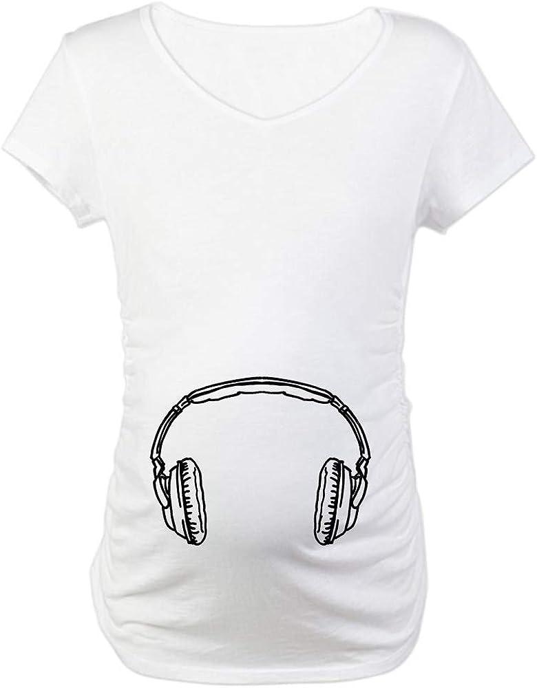 CafePress Headphones Austin Mall Maternity 40% OFF Cheap Sale Shirt Tee T