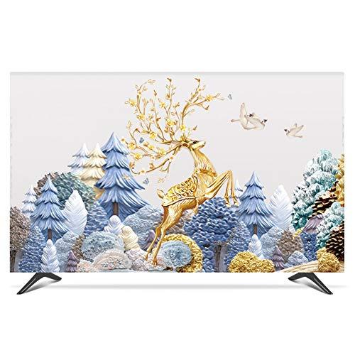 yuanyuanliu Tapas De Polvo De TV, Costo De TV, Costo De La Tela, Montaje En La Pared De 55 Pulgadas 50 Curvas Cubiertas Cubiertas DE TV LCD (Color : A, Size : 22 Inches)