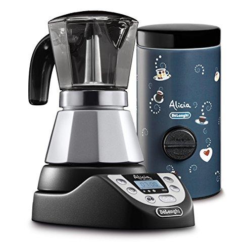 De'Longhi EMKP42.B - Cafetera eléctrica Alicia Plus, color plata Alicia Plus + dosificador de café Nero/Blu
