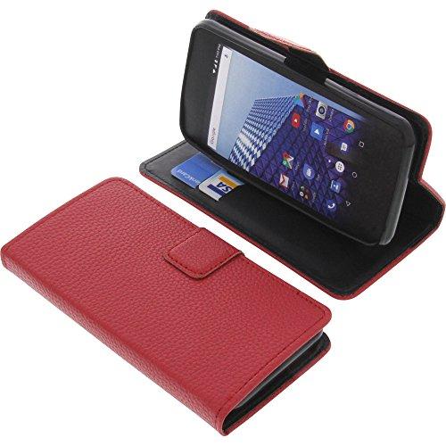foto-kontor Tasche für Archos Access 45 4G Book Style rot Schutz Hülle Buch