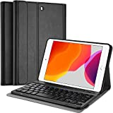 ProCase iPad Mini 5/4/3/2/1 キーボード付きケース 軽量 磁気装着 ワイヤレスキーボード スマートカバー 適用端末:iPad Mini 5 (2019)/ Mini 4, Mini 1 2 3‐ブラック