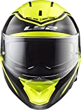 LS2 390-1346 Full Face Motorcycle Helmet (Black, XXL)