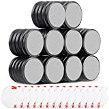 50 Pcs Ceramic Disc Magnets with Double-Sided Adhesive, TRYMAG Round Industrial Magnets Perfect for Fridge, DIY, Hobby, Scientific, Crafts, and Office Magnets - 0.709 inch / 18 mm