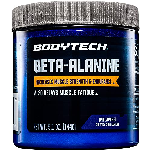 BodyTech Beta Alanine (Carnosyn) 1600 MG Increases Muscle Strength Endurance, Delays Muscle Fatigue (5.1 Ounce Powder)