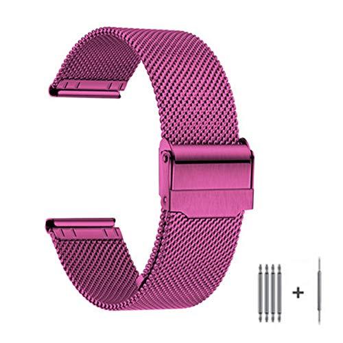 Correa de reloj unisex de acero inoxidable y acero inoxidable, cadena de reloj de repuesto de acero inoxidable, longitud ajustable