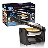 Quest 35960 180° Rotating Belgian Maker with Non Stick Plates Temperature Control-Cooks up