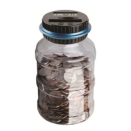Vingtank Digital Counting Money Bank, Savings Jar, Large Electronic Change Counter, Money Saving Box with LCD Display Coins Saving, for Kids and Adults Gift (Dollar)