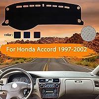 OZLXKNC カーダッシュボードカバーダッシュマットダッシュマットダッシュボードパッドサンシェードカーペットカースタイリング、ホンダアコード用1997 1998 1999 2000 2001 2002