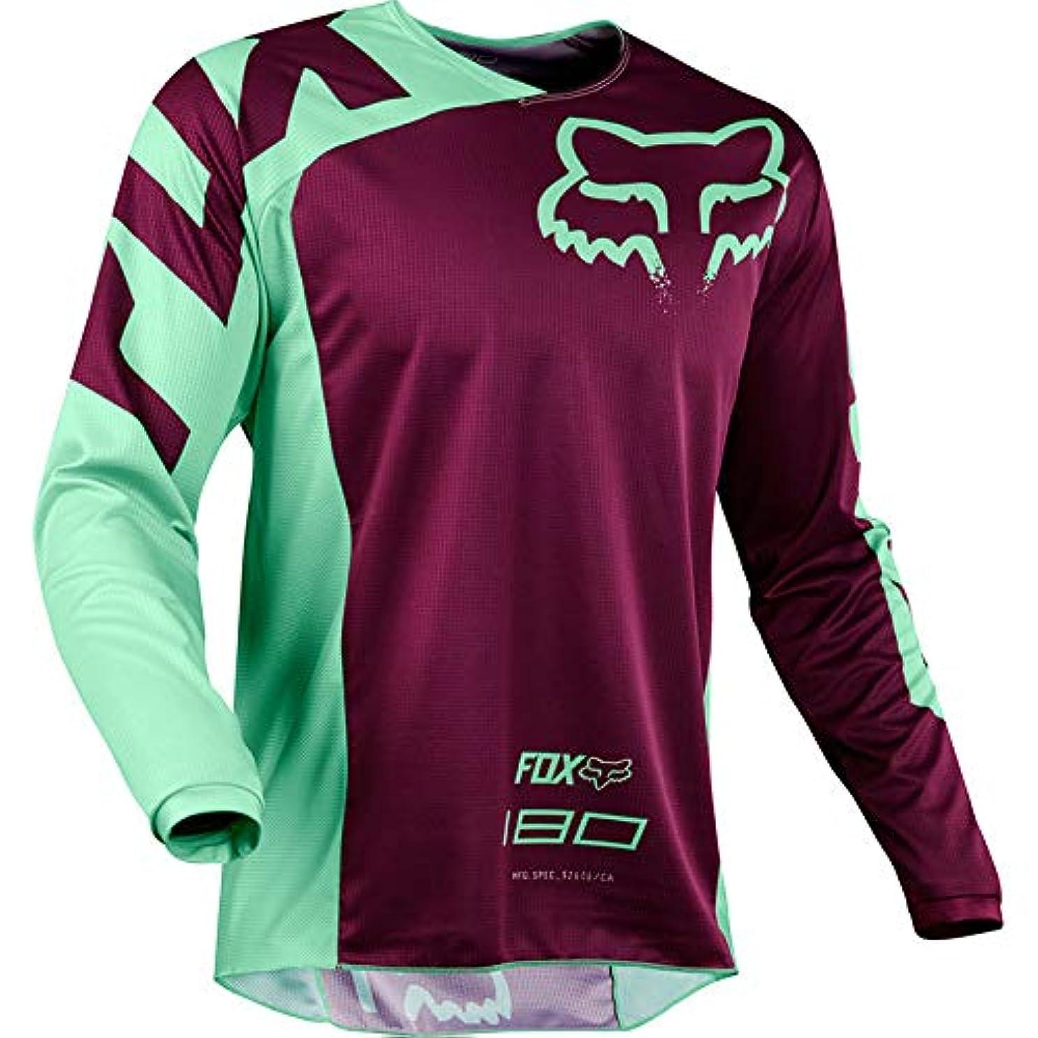 災難本気スイング2019 ロングモトクロスジャージダウンヒルバイク自転車 Pro の Moto オフロード Tシャツ服衣類トップ DH MX GP RBX MTB