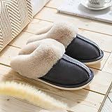 Xx101 Pantofole Nuove Signore for La Casa di Alta qualità Pattini del Cotone Piani degli Uomini Peluche Pantofole Ciabatte Paio di Camoscio Scarpe Indoor Pelosi Nixx0 (Color : Dark Grey, Size : 9)