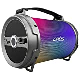 Artis BT504 RGB Wireless Portable Dynamic LED Bluetooth Speaker with USB/FM/SD Card/AUX in/MIC in/LED Display/LED Lights & Wireless MIC.