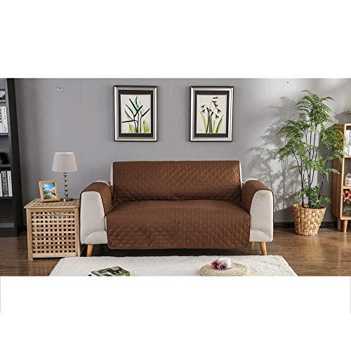 WJX PET Sofa Cover Slipcover Elastic Cotton Waterproof Sofa-Kissen, Dog Sofa Protector Sessel Protector Washable, 3 Seater, grau,Brown,3seater