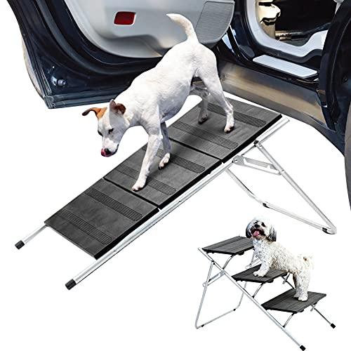 WYYUE Escalera Multifuncional para Perros, Rampa de Acceso para Mascotas de 3 Capas, Escaleras Plegables de Gran TamañO, Protege Las Articulaciones y Las Rodillas del Perro