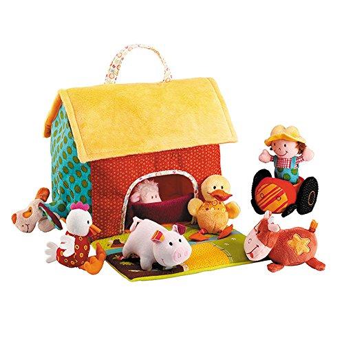 Lilliputiens 87177 - Granja de tela con muñecos de animales (Juguete)