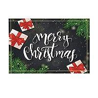 Assanu モミの枝パターン装飾ホームディスプレイ戸口にリボン付きのクリスマスデコレーションギフトボックス