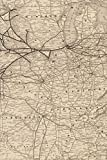 Chicago, Kansas, Nebraska Map Journal Notebook, 100 pages/50 sheets, 4x6 (Poetose Notebooks)