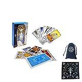 Cartas de Tarot de Waite del Jinete Radiante Ruso, Amigos, Fiesta Familiar, Juego de Mesa Feliz, Tarjetas de Regalo,with Tablecloth + Bag,Tarot Cards