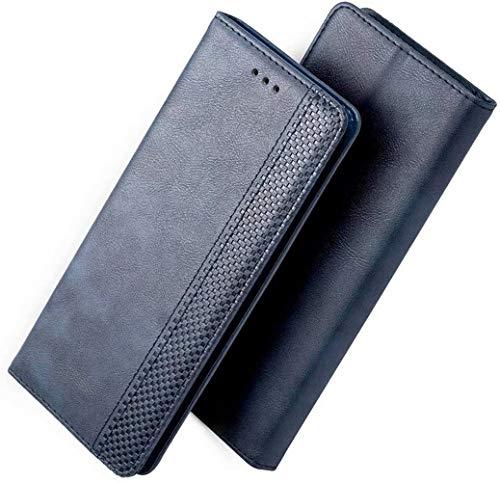 FANFO® Hülle für LG Velvet (4G/5G) HandyHülle, Premium PU Leder Tasche Magnetverschlüsse Schutzhülle Flip Wallet Klapphülle Folio Book Style Hülle Cover, Blau