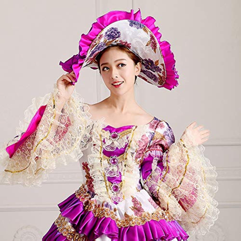 QAQBDBCKL Original Design Vintage Gericht Kleid Frauen Kunst Kleidung Halloween Makeup Party Cosplay Kostüm