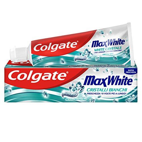 Colgate Dentifricio Max White Cristalli Bianchi, 75ml