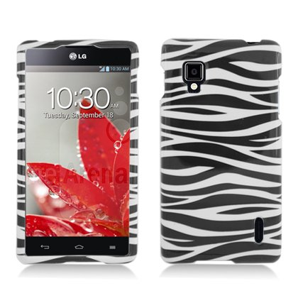 Aimo LGLS970PCIM005 Durable Hard Snap-On Case for LG Optimus G LS970 - 1 Pack - Retail Packaging - Zebra
