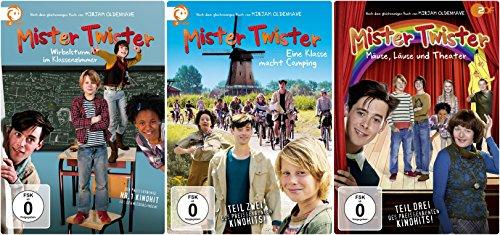 Mister Twister - DVD-Komplett-Set - Wirbelsturm im Klassenzimmer / Eine Klasse macht Camping / Mäuse, Läuse und Theater [3 DVDs]
