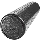 High Density Muscle Foam Rollers by Day 1 Fitness - Sports Massage Rollers for Stretching, Physical Therapy, Deep Tissue and Myofascial Release - For Exercise and Pain Relief - Black, 24'